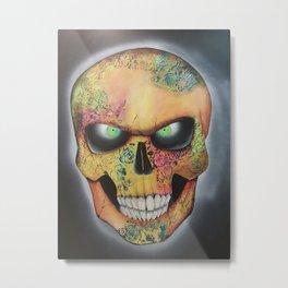 Mrs. skull Metal Print