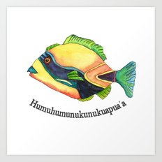 H is for Humuhumunukunukuapua'a Art Print