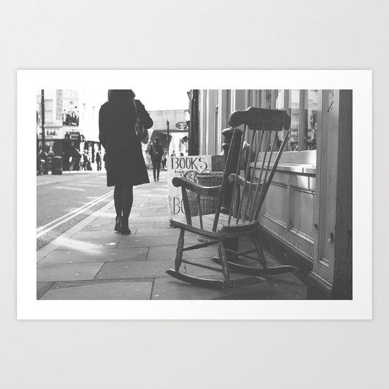 The rocking chair Art Print