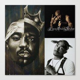 TupacSha-kurRap Music Rapper Star T-shirt Canvas Print