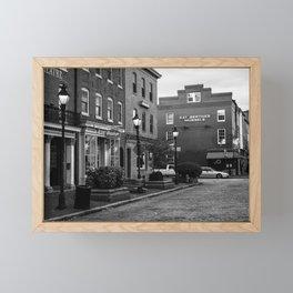 Broadway, Fells Point B&W Framed Mini Art Print