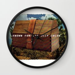 Known for it's Deep Color (Joshua Trees and Aaron Poritz Lunchbox) Wall Clock