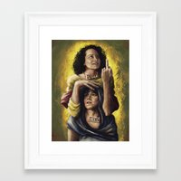 broad city Framed Art Prints featuring Broad Saints by mycolour