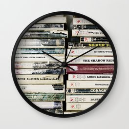 louis l'amour paperbacks Wall Clock