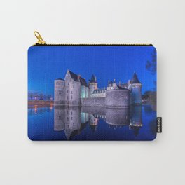 Sully sur Loire at night, Loire valley, France. Carry-All Pouch