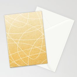 Scribble Linen - Sunflower Yellow Stationery Cards