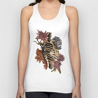 bones Tank Tops featuring Bones by Zé Pereira Illustration