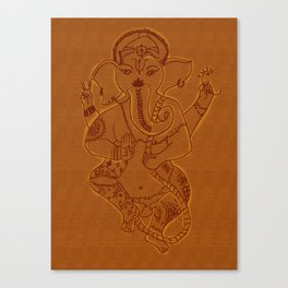 Ganesha Orange Canvas Print