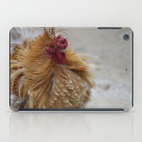 cock iPad Cases featuring Fluffy Cock by SomniumStudios.co.uk