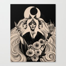 Hecate (Dark Goddess Series #4) Canvas Print