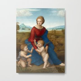 Raphael - Madonna in the Meadow Metal Print
