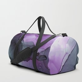Abstract Ink Painting Deep Purple Green Duffle Bag