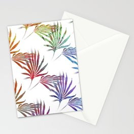 Palmetto Fronds Tropical Pattern Stationery Cards