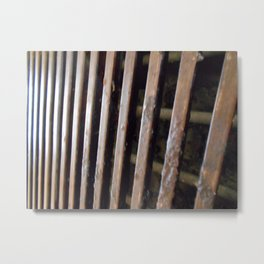 Grill with Steak Residue Metal Print