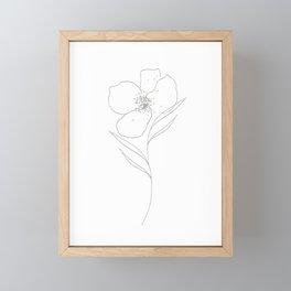 Floral Simplicity - Gray Framed Mini Art Print