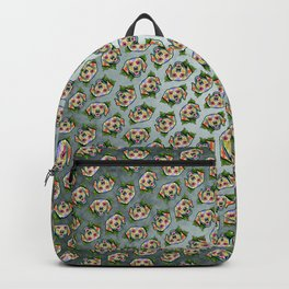 Golden Retriever - Day of the Dead Sugar Skull Dog Backpack