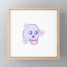 Gradient Skull  Framed Mini Art Print