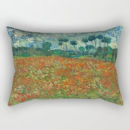 Vincent Van Gogh Poppy Field Rectangular Pillow