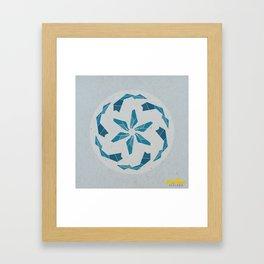 Mandala no.3 Blue Framed Art Print