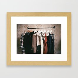 You can never get a wardrobe large enough Framed Art Print