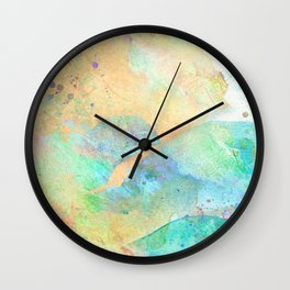 Pastel Color Splash 01 Wall Clock