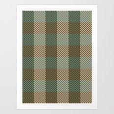 Pixel Plaid - Birch Forest Art Print
