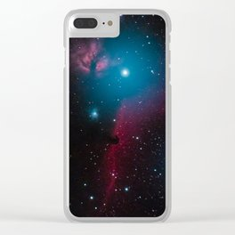 Flame and horsehead nebula Clear iPhone Case