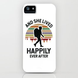 Hiking Design for Women Hikers iPhone Case
