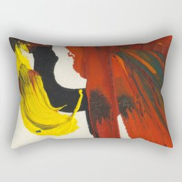 Face on Yellow Crying Red Rectangular Pillow