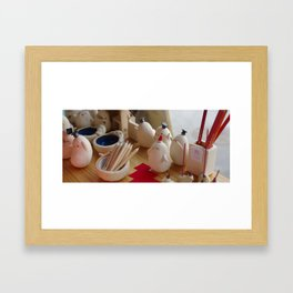 테스트 Framed Art Print