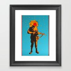 War Soldier Collage 1 Framed Art Print