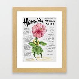 Hawaiian Macaroni Salad Framed Art Print