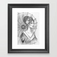 Elegant Oriental Japanese Geisha by Ashley Rose Standish Framed Art Print
