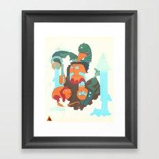 Mayan priest Framed Art Print