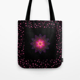 Abstract purple flower 03 Tote Bag