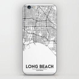 Minimal City Maps - Map Of Long Beach, California, United States iPhone Skin