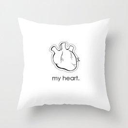 my heart. Throw Pillow