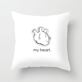 my heart. Throw Pillow