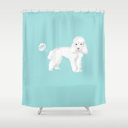 toy poodle funny farting dog breed pure breed pet gifts Shower Curtain