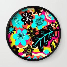 Funky colors Wall Clock