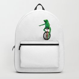 Here come dat boi frog memes unicycle TOP QUALITY Backpack