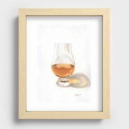Glencairn Bourbon Glass Recessed Framed Print