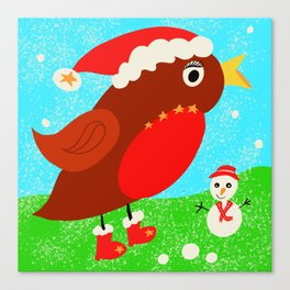 Christine the Christmas robin Canvas Print