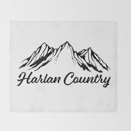 Harlan Country (Dead Hollow) Throw Blanket