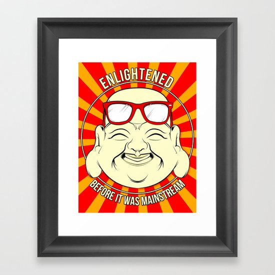 Hipster Budai Framed Art Print