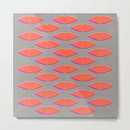 Lips pattern Metal Print
