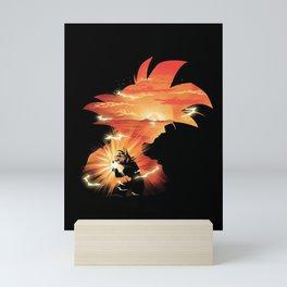Goku Sndown head Mini Art Print