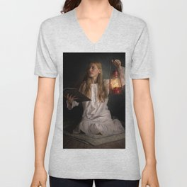 Reading After Bedtime Unisex V-Neck