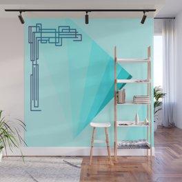 Eleganza 09, aqua Wall Mural