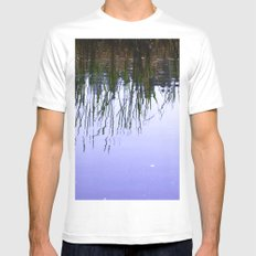 Reflections in the Water Mens Fitted Tee MEDIUM White